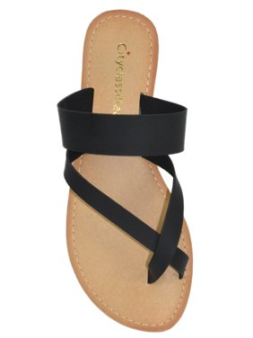 bd0ef2a2d Free shipping on orders over $35. Free pickup. Product Image City  Classified Shoes Women Basic Flip Flops Flat Summer Sandals Thongs  LOVEJOY-S Black 10