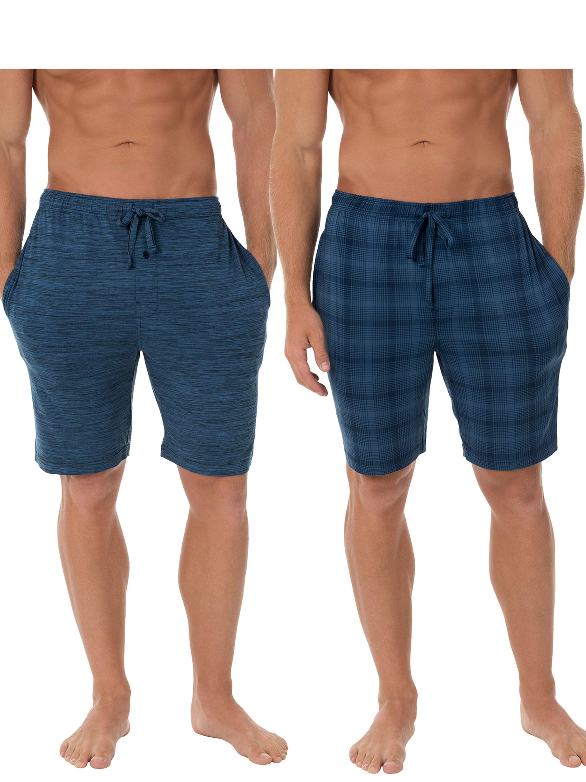 Fruit of the Loom Men's Big Size 2-pack Beyondsoft Knit Sleep Jam Short