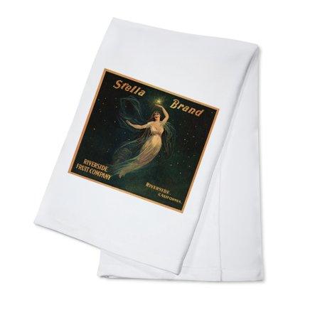 Stella Brand - Riverside, California - Citrus Crate Label (100% Cotton Kitchen Towel)](Riverside California Halloween)