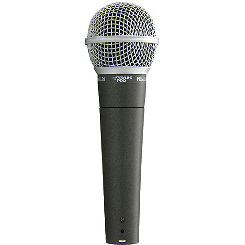 Pyle Professional Moving Coil Dynamic Handheld Microphone, Black