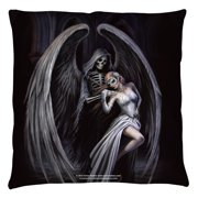 Anne Stokes Dance With Death Throw Pillow White 20X20