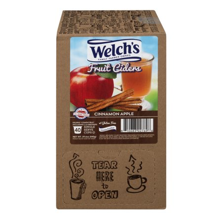 Welch's ,Cinnamon Apple Cider, 40 Count Kcups (Best Cinnamon Roll E Juice)
