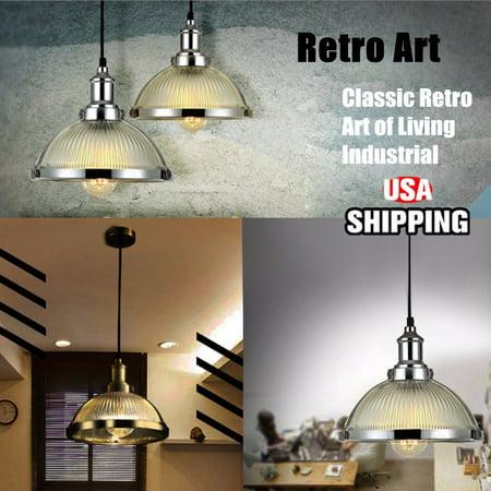 60W E27 Holder Vintage Retro Industrial Copper Glass Ceiling Pendant Light Lamp Art Glass Copper Pendant
