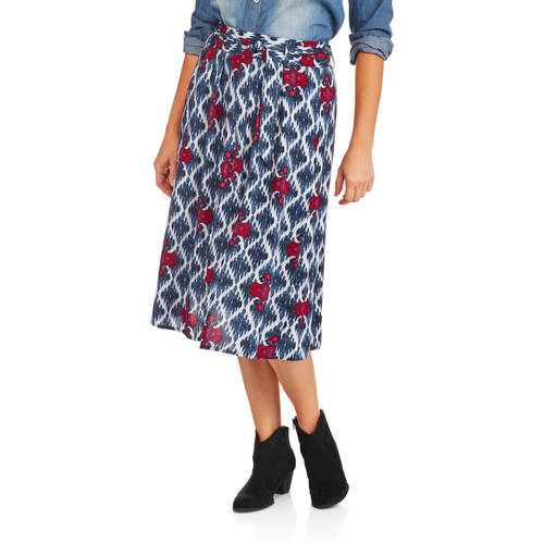 Concepts Women's Woven Belted Skirt