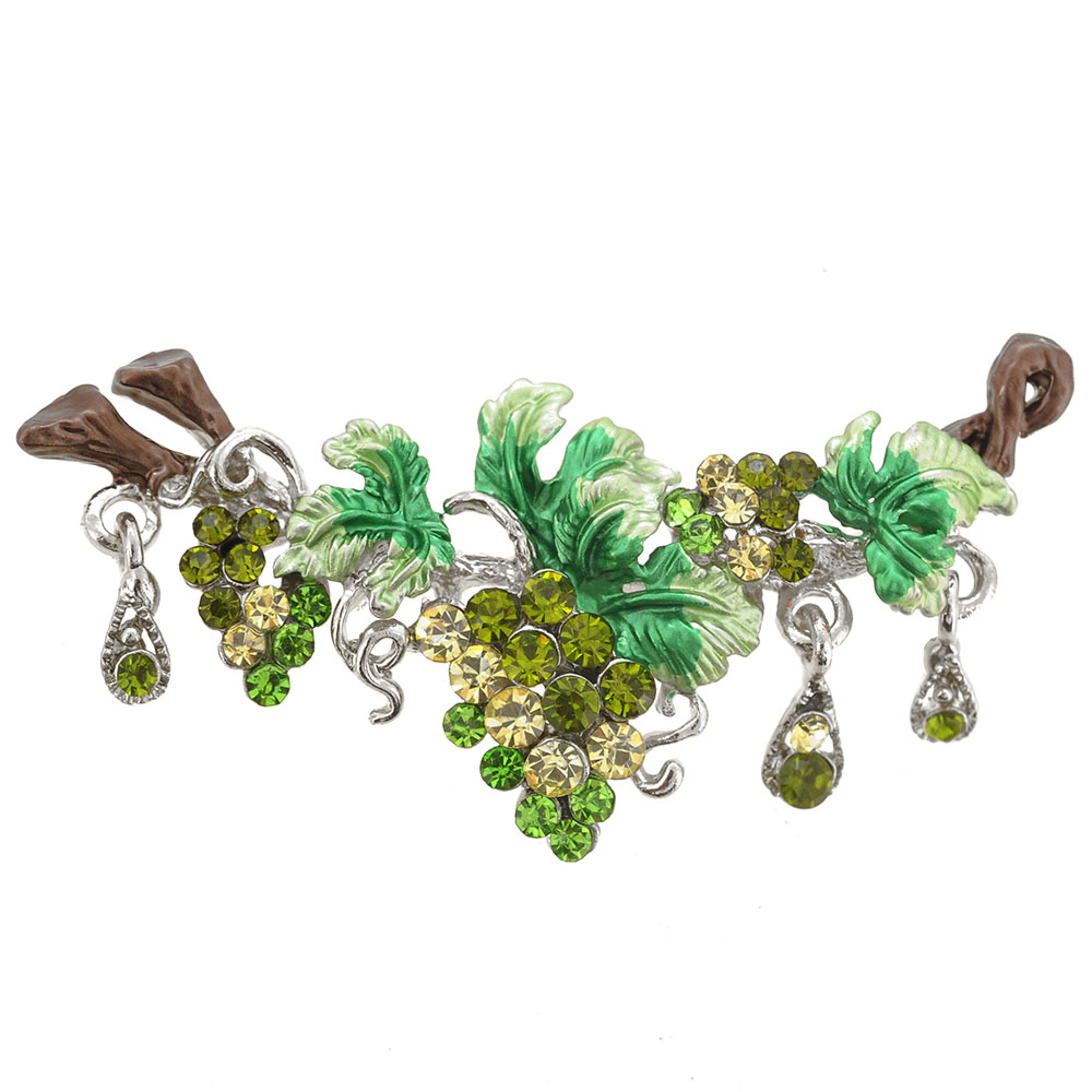 Green Grapes Pin Brooch by