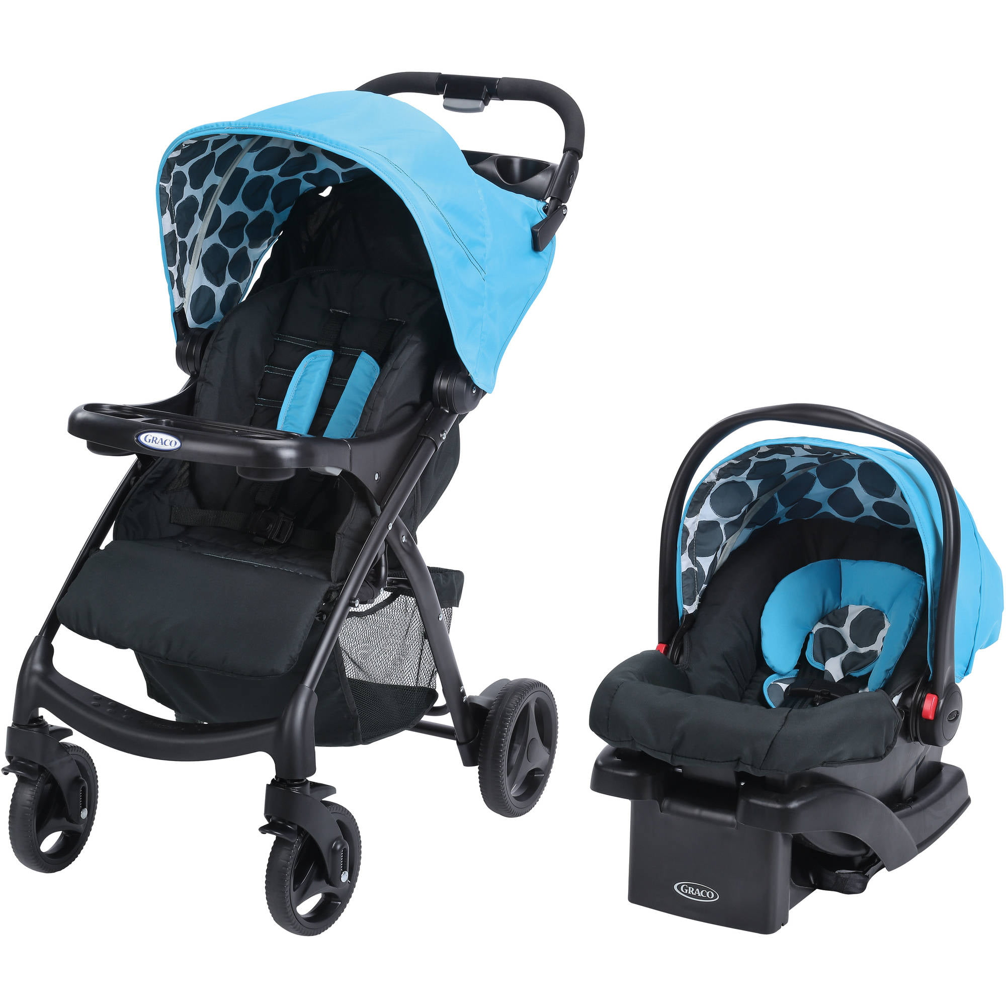 Graco Verb Click Connect Travel System With SnugRide 30 Infant Car Seat Motif
