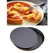 9 inch Non-stick Pizza Pan Quiche Pan With Removable Bottom Removable Loose Bottom Quiche Pan Tart Pie Pan