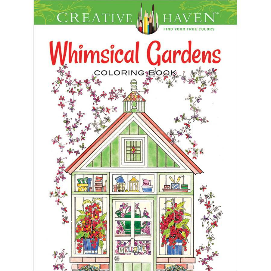 Dover Publications Creative Haven Whimsical Gardens
