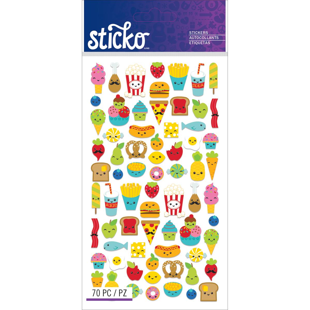 Sticko Classic Stickers-Mini Food Characters