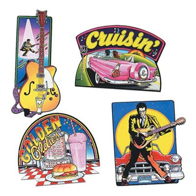 Beistle - 55157 - Rock And Roll Cutouts- Pack of 12