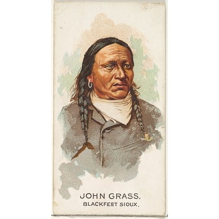 John Grass Blackfeet Sioux from the American Indian Chiefs series (N2) for Allen & Ginter Cigarettes Brands Poster Print (18 x
