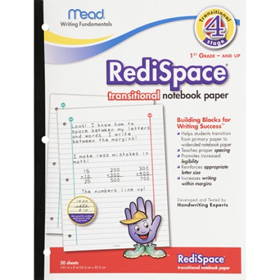 PAPER TRANSITIONAL NOTEBOOK 50 SHTS MEA48018