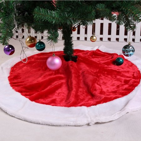 Obstce Round Snowman Christmas Tree Skirt Stands Ornaments Home Party Decor