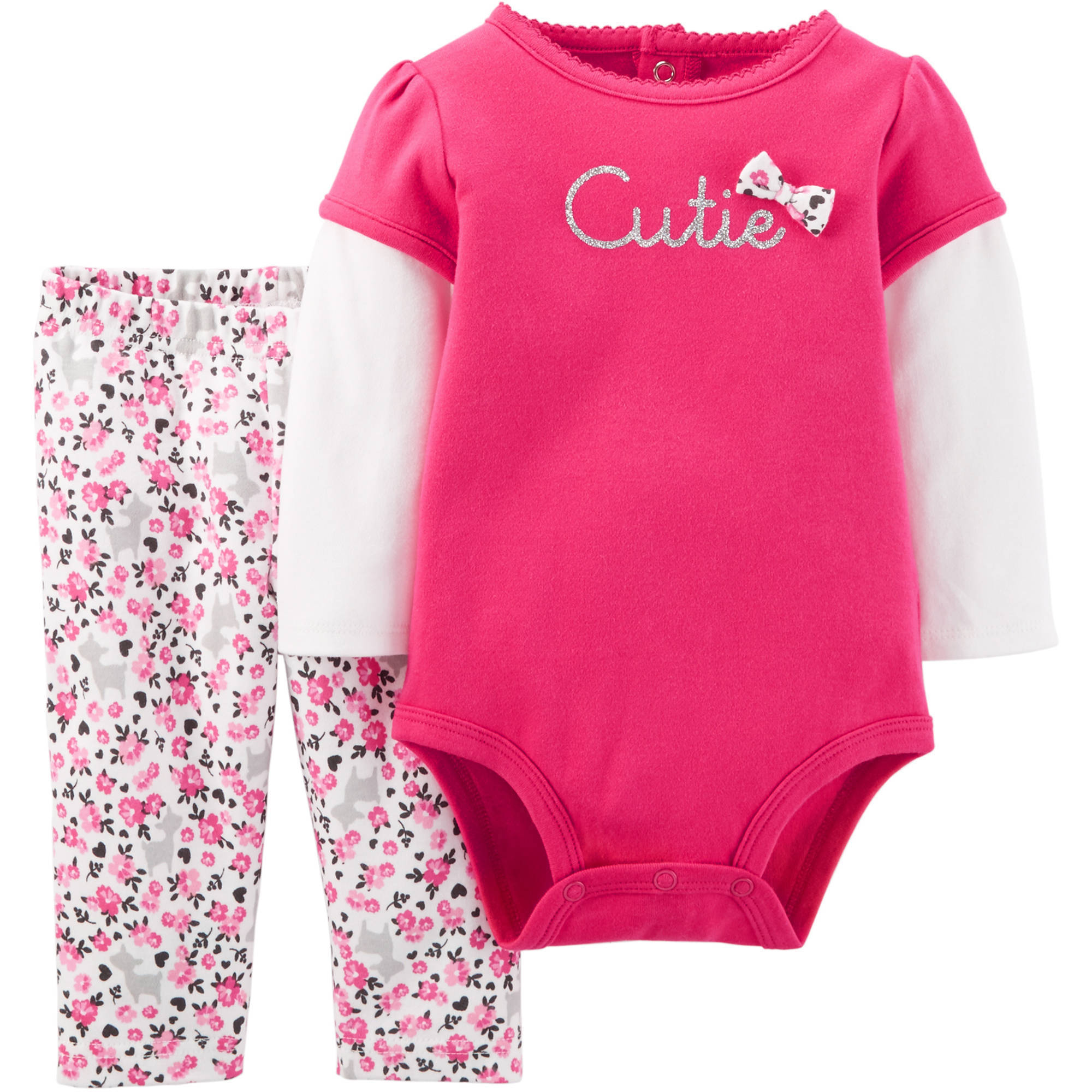 Child of Mine by Carter's Newborn Baby Girl Bodysuit and Pant Set 2 Pieces