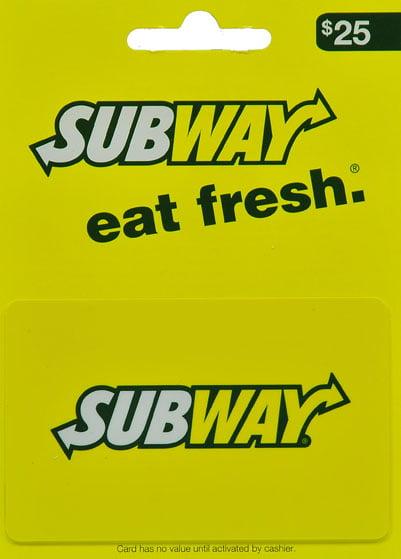 Subway $25 Gift Card - Walmart.com