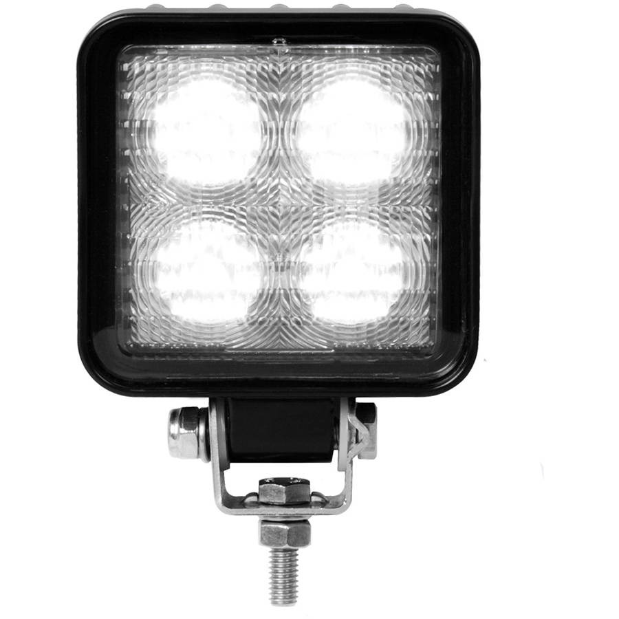 Grand General Square Heavy Duty High Power 4 LED Flood Light in 9-36 Multi-Voltage