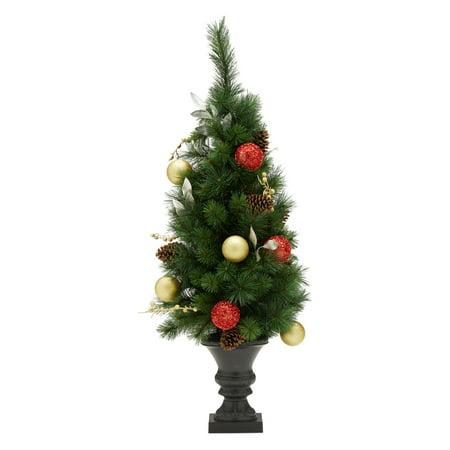 Belham Living Prelit Potted Spruce Christmas Tree 4 ft,