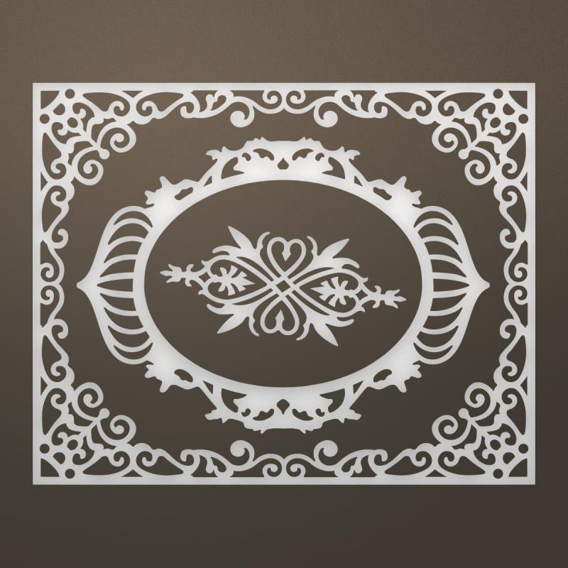 "Ultimate Crafts Ooh La La Die-livi Frames & Flourish, 4.3""x3.4"""