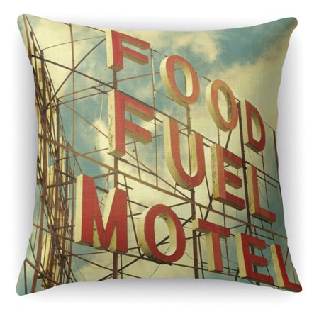 (Kavka Designs Food Fuel Motel Accent Pillow)