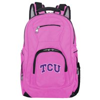 NCAA Texas Christian University Horned Frogs Pink Premium Laptop Backpack