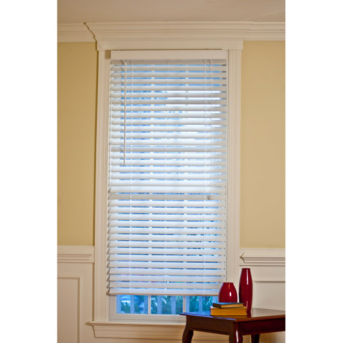 """Canopy 2"""" Faux Wood Blind, White"""