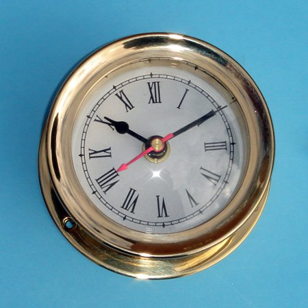 Vintage Solid Brass Chelsea Seth Thomas Styll Mariner Ship Clock