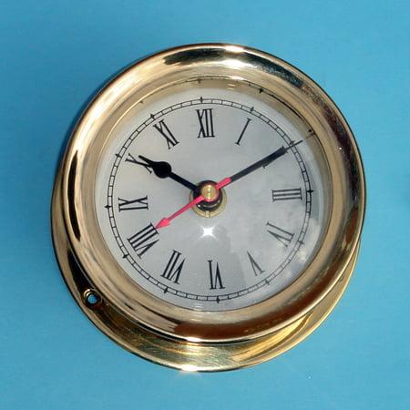 Seth Thomas Shelf Clock (Vintage Solid Brass Chelsea Seth Thomas Styll Mariner Ship Clock)