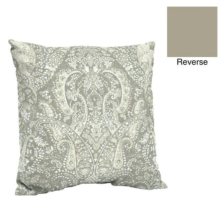 Better Homes & Gardens Gray Paisley 24 x 24 in. Outdoor Deep Seat Pillow Back Cushion w EnviroGuard