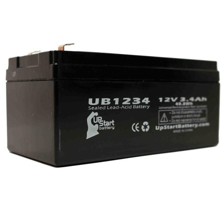 Criticare Systems 600 PULSE OXIMETER Battery Replacement - UB1234 Universal Sealed Lead Acid Battery (12V, 3.4Ah, 3400mAh, F1 Terminal, AGM, SLA) - Includes TWO F1 to F2 Terminal Adapters - image 2 de 4