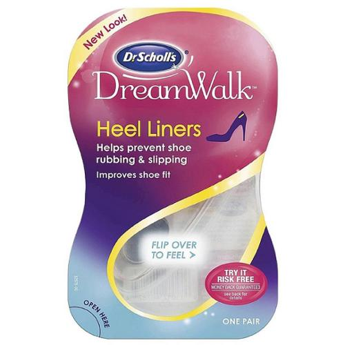 Dr. Scholl's DreamWalk Clear Gel Heel Liner 1 pair (Pack of 6)