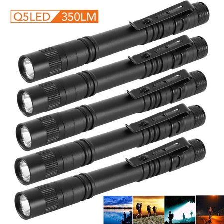 Mini 2000 Lumens CREE XPE-R3 LED Flashlight Lamp Light Clip Torch Penlight AAA Battery, 1 Pcs - Bulk Mini Flashlights