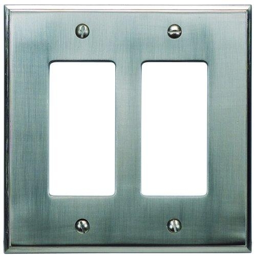 Sutton Plate Collection 2 Rocker Wall Plate - Brushed Nickel