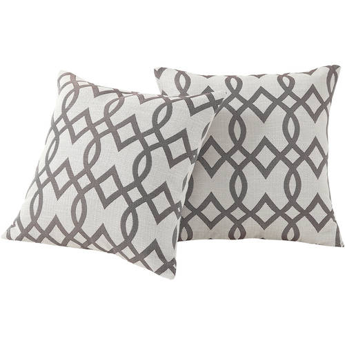 Mainstays Trellis Pillow, Set of 2