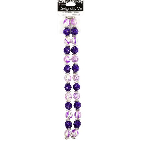 Cousin Acrylic Purple Shamballa & Swirl Strand, 52 Piece](Cousin Eddy)
