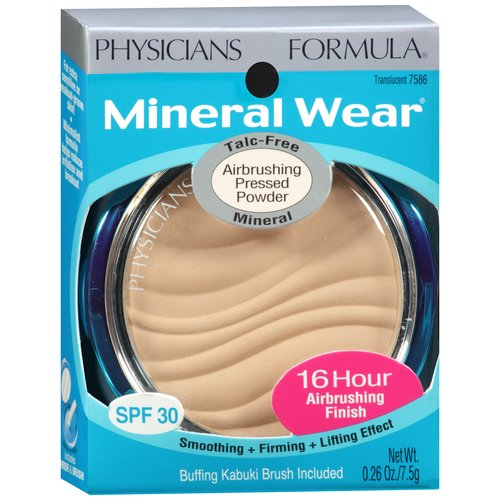 Physicians Formula Mineral Wear Mineral Airbrushing Pressed Powder, Translucent 7586, 0.26 oz