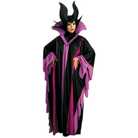 Maleficent Deluxe Adult Halloween Costume, One Size: 12-14 - Maleficent Sleeping Beauty Costume