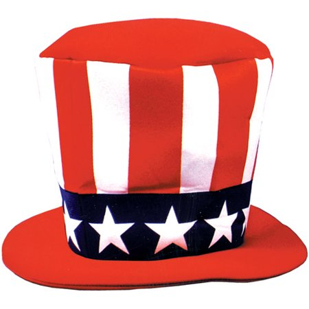 Uncle Sam Foam Hat Adult Halloween Accessory](Foam N Glow Halloween)