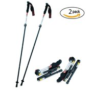Adjustable Hiking poles - Ultralight Collapsible Folding Trekking Hiking Walking Poles with Comfort Grip Foam Handle, and Travel Case for Backpacking Hiking Mountaineering Camping