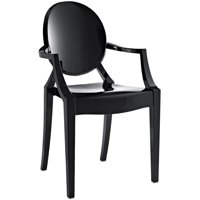 Hawthorne Collections Dining Arm Chair in Black