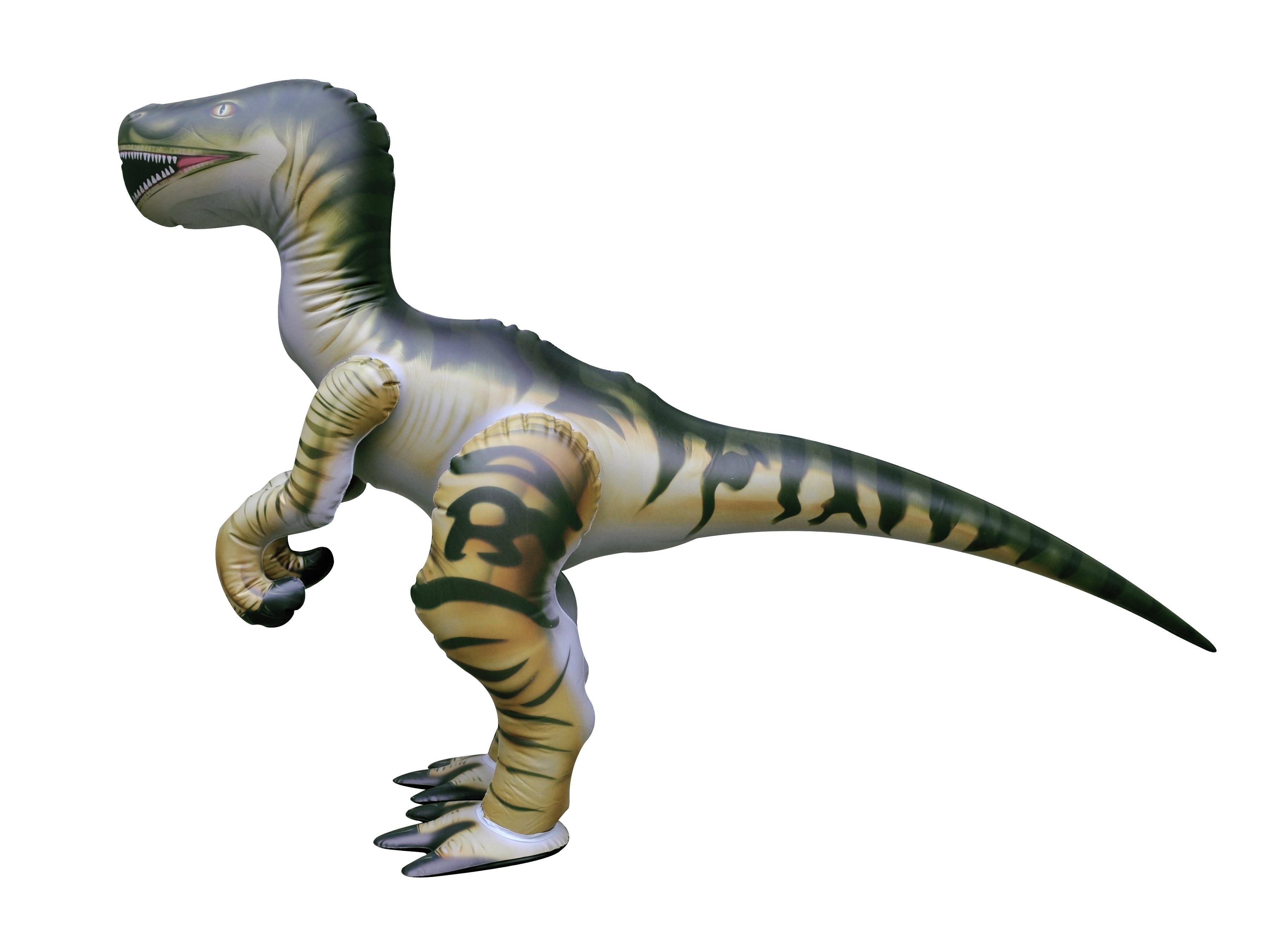 Zwierzęta i dinozaury Inflatable Velociraptor Dinosaur 51 Inch Long Zabawki
