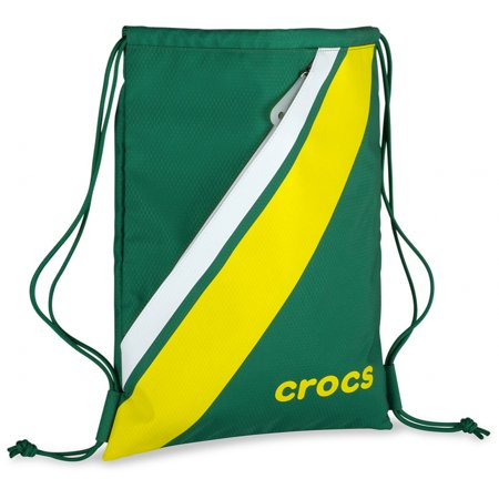 Crocs Retro Sackpack Gym Bag Fitness Tote Drawstring Cinch Sack School Sports