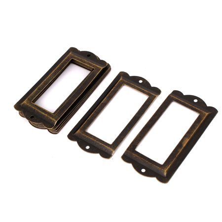 85mm x 42mm Metal Vintage Stryle Tags Frames Box Tag Card Label Holders 10pcs