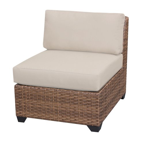 Sol 72 Outdoor Waterbury Armless Sectional Chair with Cushions
