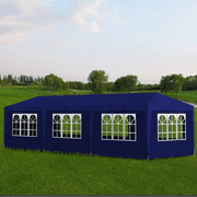 Anself 10' x 30'/10' x 20' Outdoor Gazebo Canopy Wedding Party Tent with 8/6 Walls,Blue/White