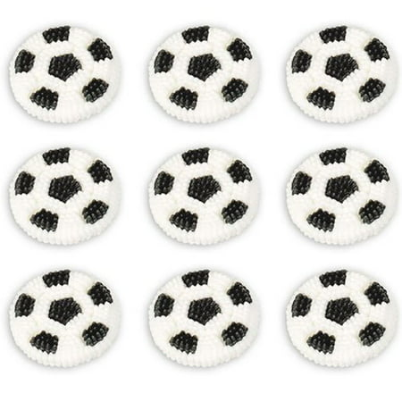 Wilton Halloween Decorations (Wilton Soccer Balls Icing Decorations Perfect For Topping Cupcakes)