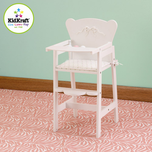 KidKraft Tiffany Bow Wooden Doll High Chair