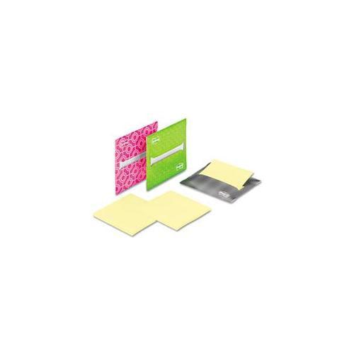 3M LND3303PK Laptop Note Dispenser, 3 x 3, Gray, Pink, Green, 3 per Pack