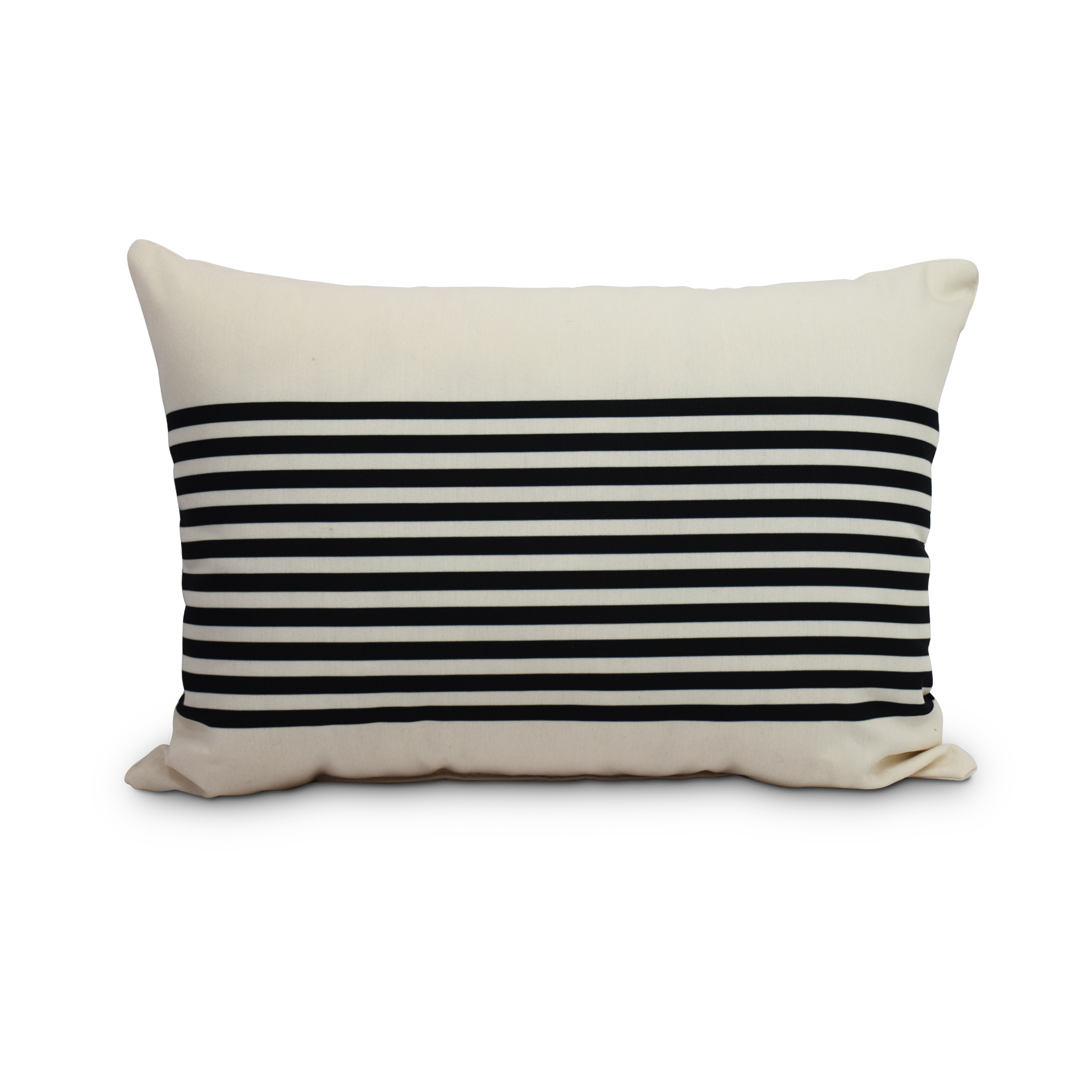 Simply Daisyu0027s Ivory And Black 14 X 20 Striped Print Outdoor Pillow    Walmart.com