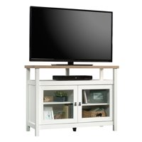 """Sauder Cottage Road TV Stand for TVs up to 42"""", Soft White Finish"""