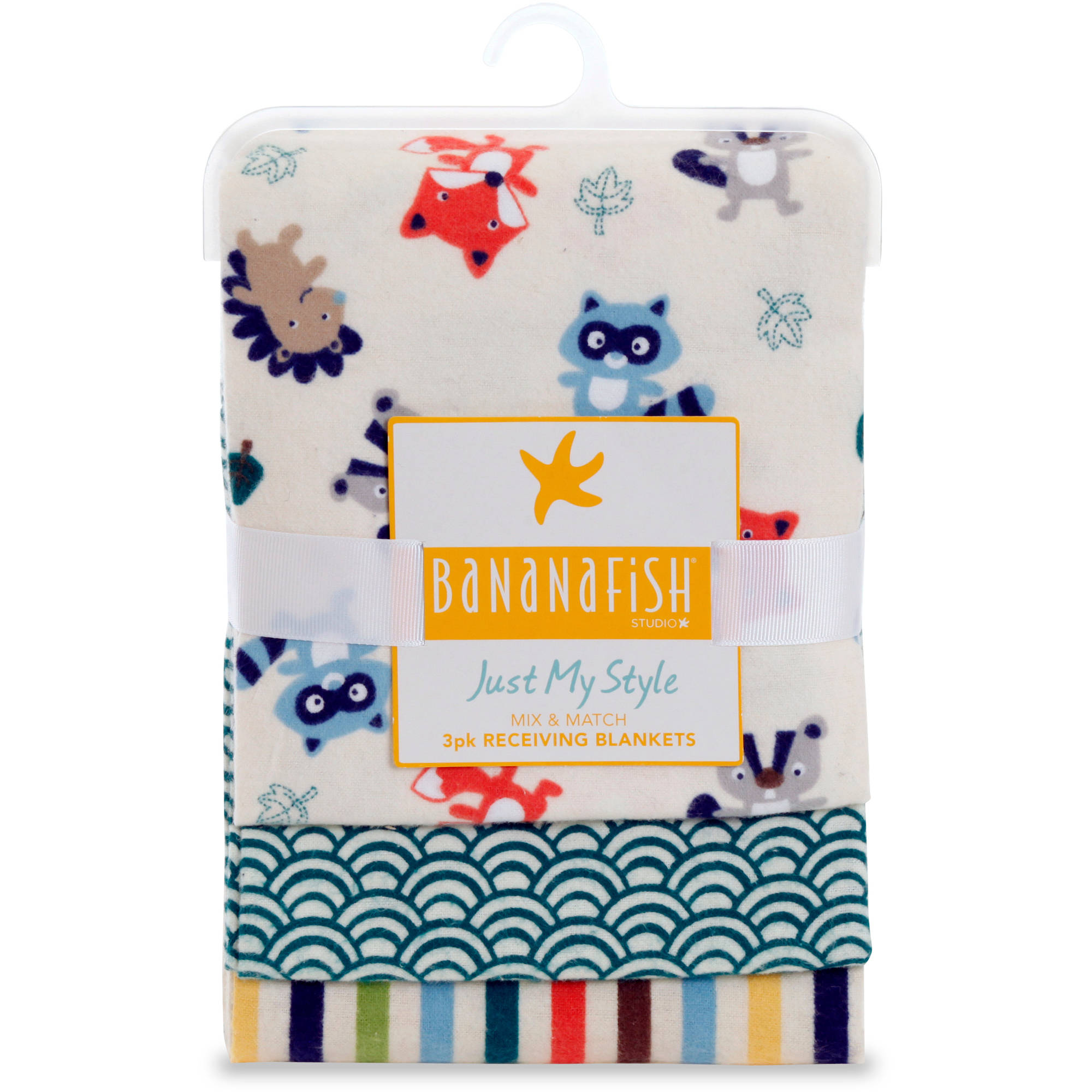 Bananafish Studio Forest Fun Receiving Blankets 3pk